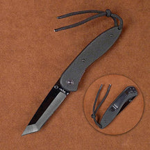 Stone River Black Ceramic Folding Knife with Tanto Style Blade