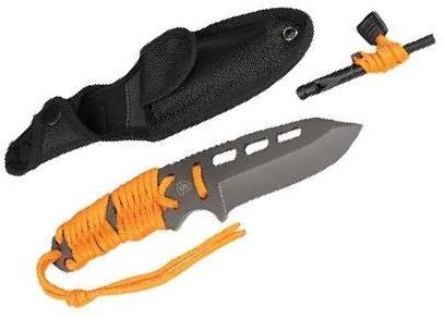 These 5ive Star Gear T2XL Survival Paracord Knife, Orange