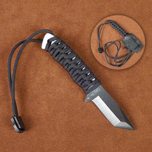 Stone River Ceramic Neck Knives with Paracord Handle and Sheath