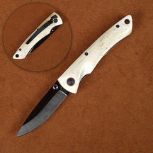 Stone River SRG2WSB Ceramic Folding Knife with Genuine White Stag Handle
