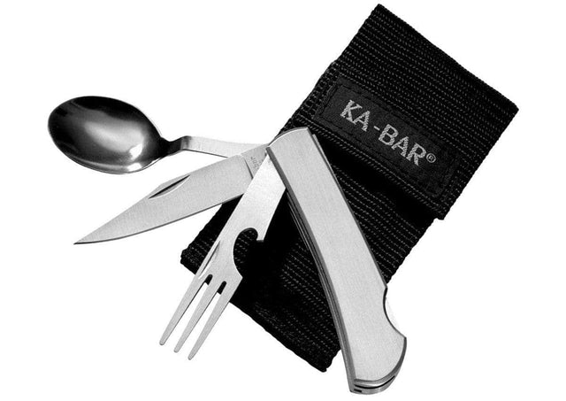 KA-BAR Hobo 3-In-1 Utensil Kit, Nylon Sheath - 1300