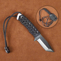 Stone River Black Ceramic Neck Knife with Paracord Handle and Sheath