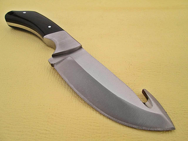 White Deer Guthook Ranger Series J2 Steel Skinner Knife w/Buffalo Horn Grip