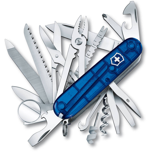 Victorinox Swiss Army SwissChamp w/Over 30 Functions Sapphire Handle