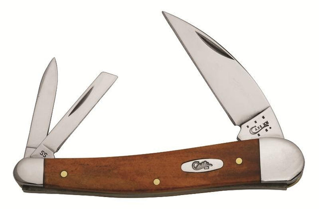 Case Smooth Chestnut Bone Seahorse Whittler, Wharncliffe, Pen and Coping Blades