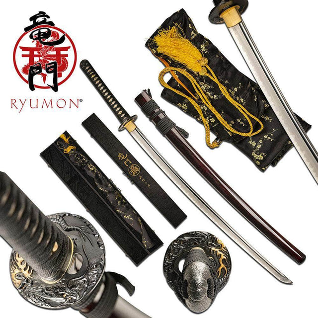 RYUMON RY-3207RS HAND FORGED SAMURAI SWORD