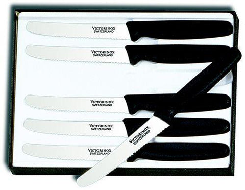Victorinox 6-piece Paring Knife Set w/ Black Polypropylene Handles