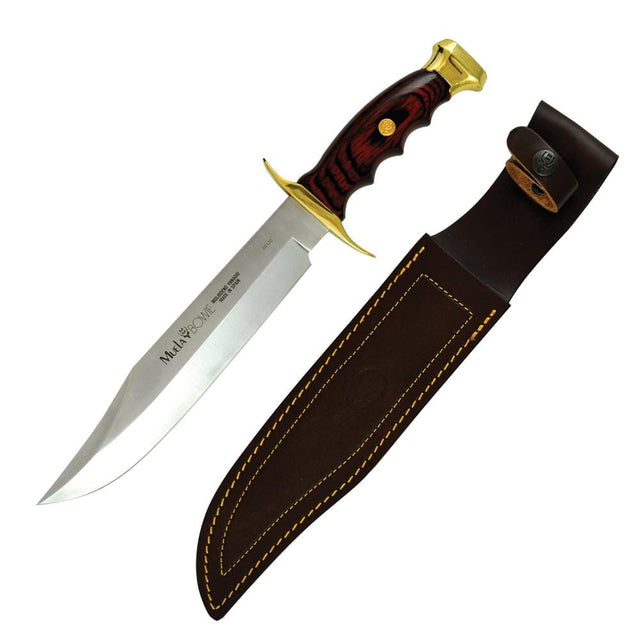 "Muela of Spain Bowie 13.5"" Brass & Wood Handle Fixed Blade Knife"