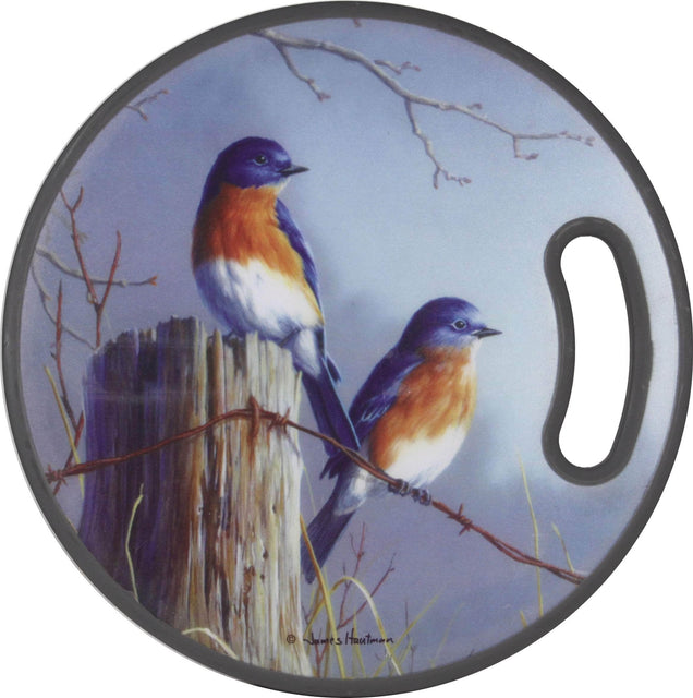 Rivers Edge Products Bluebirds Round PPE Plastic Cutting Board