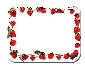 Tuftop Tempered Glass Kitchen Board, Basic Design Collection - Strawberries