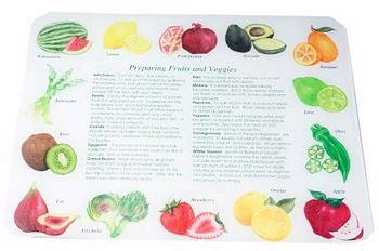 Tuftop Tempered Glass Kitchen Board, SmartTop Collection - Fruit & Veggie L