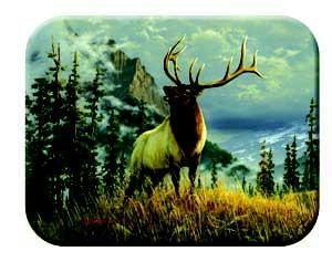 Tuftop Tempered Glass Kitchen Board, Wildlife Collection - Elk Medium