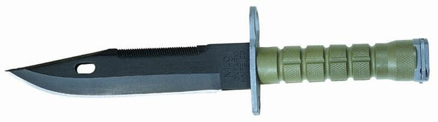 Ontario 490 M9 Bayonet with Scabbard, Olive Drab Green Handle (6220)
