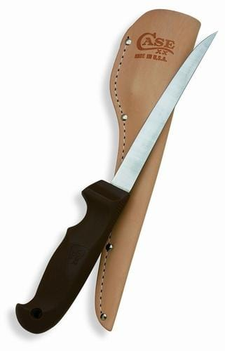 "Case Cutlery 6"" Fillet Fixed Blade W/ Leather Sheath"