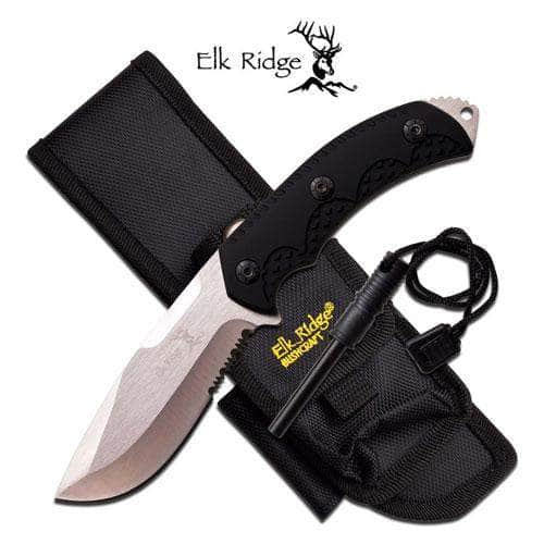 Elk Ridge ER-537BK Fixed Blade Knife
