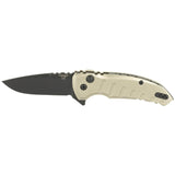 Hogue X1-Microflip Folding Knife Drop Point Tumbled Blade/Aluminum Handle