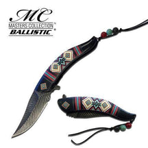 Native American Indian Collection Assisted Knife Black