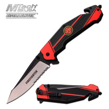 3851 USA FIRE FIGHTER SPRING ASSISTED RESCUE KNIFE