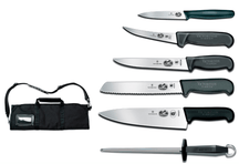 2012 VICTORINOX 7-Piece Culinary Set, Fibrox handles, with canvas case