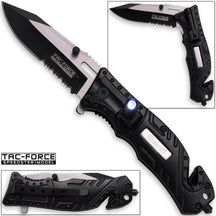 Tac-Force Assisted 3.25 in Blade Black Aluminum Hndl TF-835SH