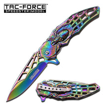 Tac-Force Spring Assisted Opening Rainbow Folding Knife, TF-856RB