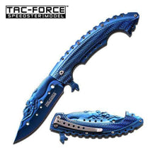 Tac Force Spring Assisted Knife Blue - 3.75