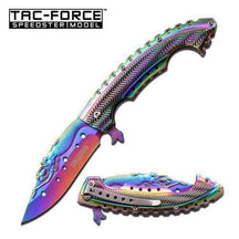 Tac Force Spring Assisted Knife Rainbow Folder, TF-864RB