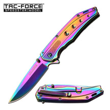SPRING-ASSIST FOLDING POCKET KNIFE Tac Force Tactical Ti-Coated Slim Blade TF-925RB