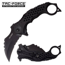 TAC FORCE Speedster Tactical Mammoth Karambit Knife Stealth Black Finish