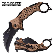 TAC FORCE Speedster Tactical Mammoth Karambit Knife Digital Desert Camo