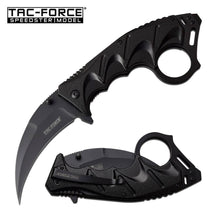 TAC-FORCE Tactical Karambit Assisted Open Knife Black 3CR13 Steel, w Tool