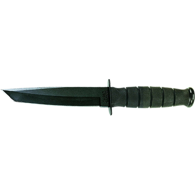 Ka-bar Knives Short Straight Edge Fixed Blade Knife w/ Sheath