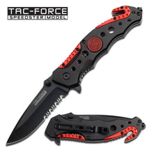 Tac-Force Assisted 3.25 in Blade Red-Black Aluminum Hndl TF-723FD