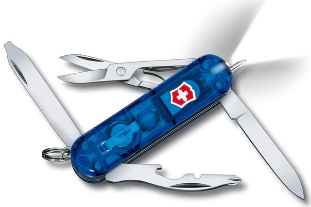 Victorinox Midnite Manager Swiss Army Knife, Blue Transparent Scales