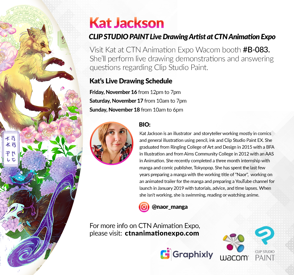 CTN Animation Expo - Live Drawing Artist - Kat Jackson