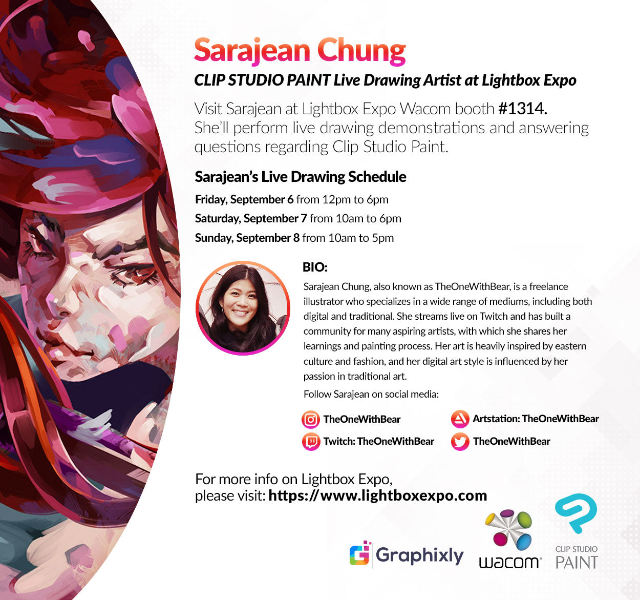 Lightbox Expo - Live Drawing Artist - Sarajean Chung