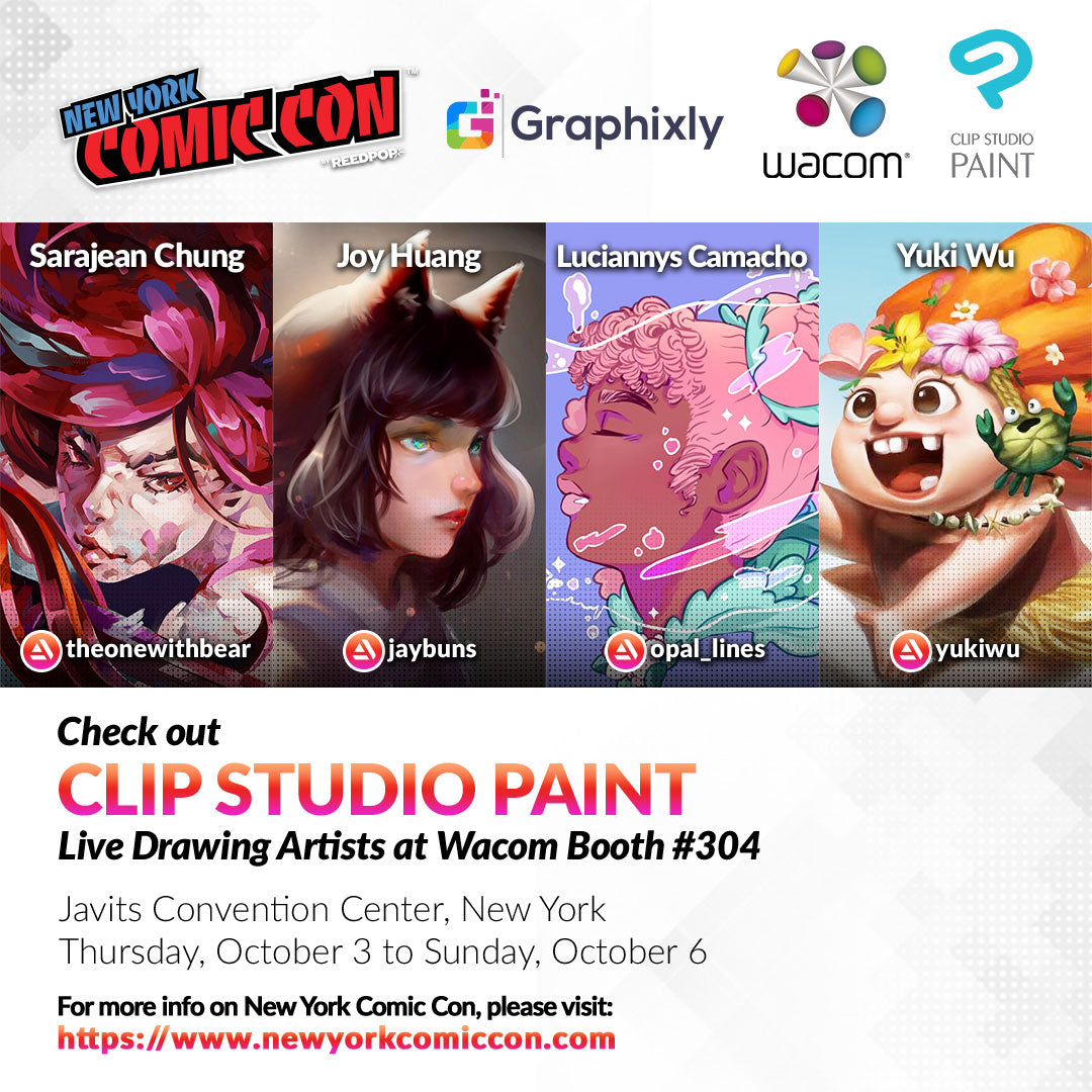 New York Comic Con - CLIP STUDIO PAINT Live Drawing Artists