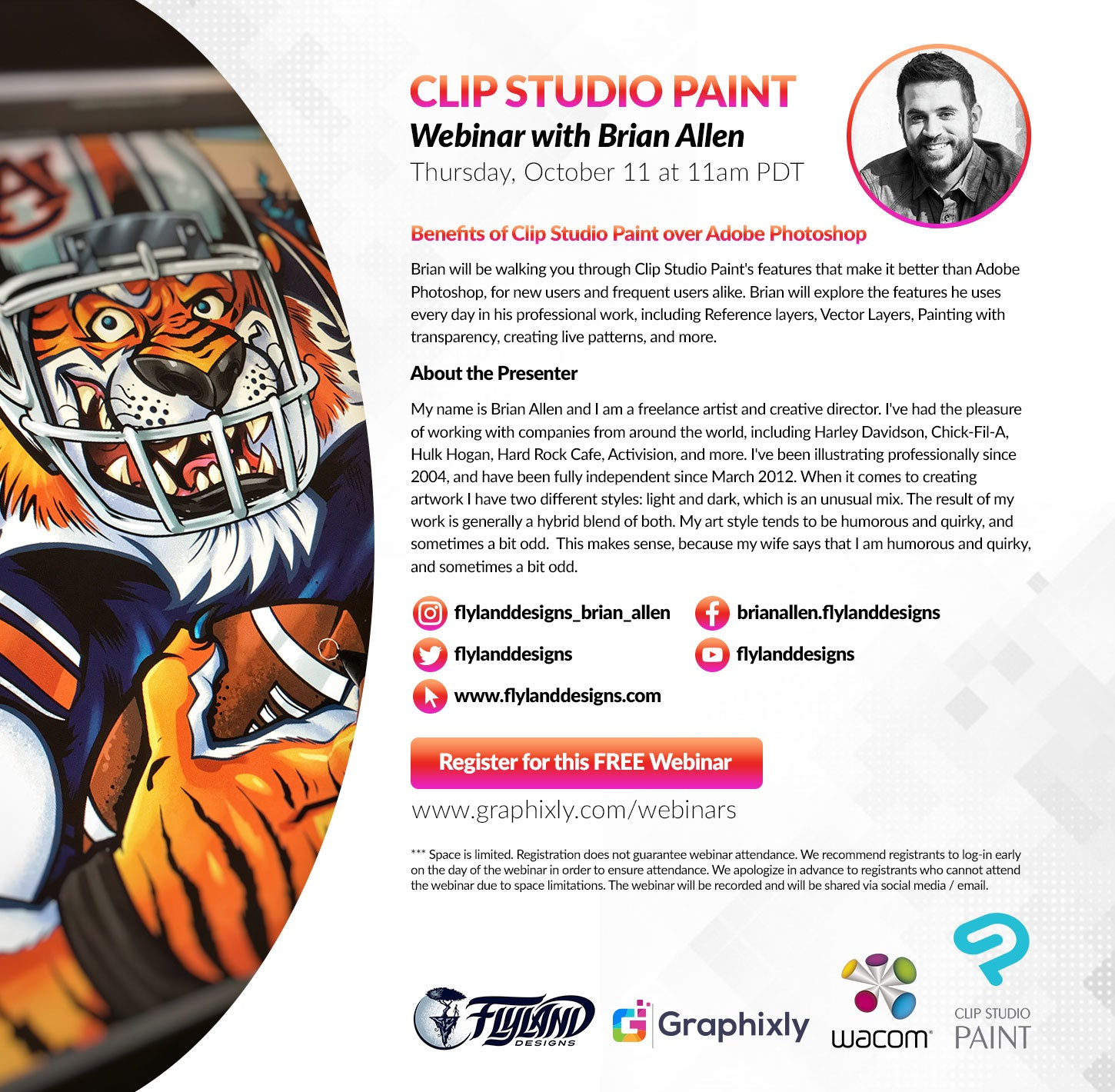 Webinar - Benefits of CLIP STUDIO PAINT over Adobe Photoshop with Brian Allen