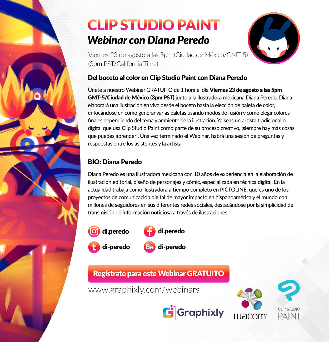 Anime Expo Friday July 6 Clip Studio Paint Live Drawing