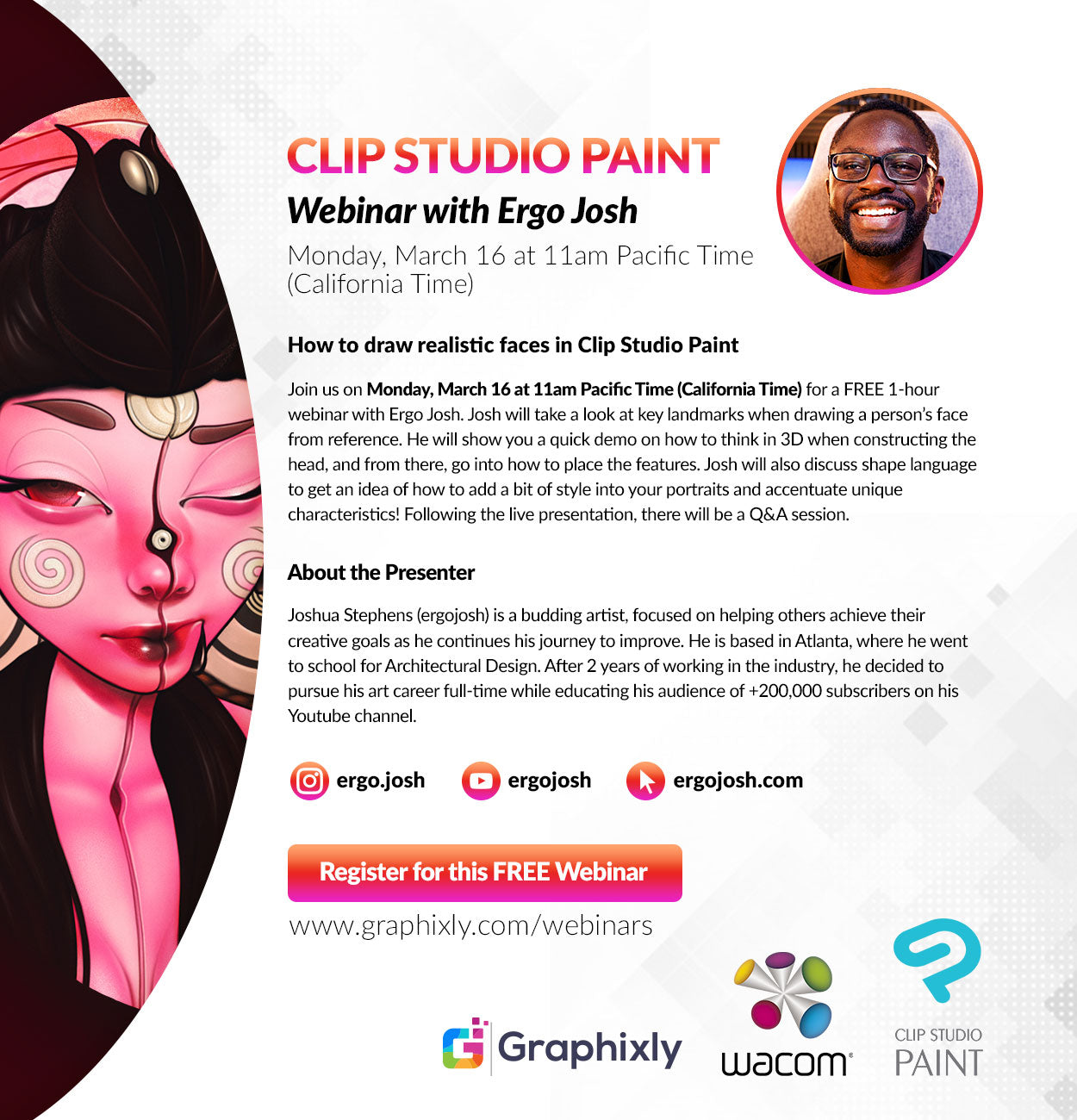 Webinar - How to draw realistic faces in Clip Studio Paint