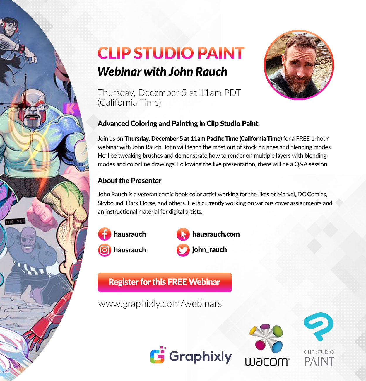 Webinar - Advanced Coloring and Painting in Clip Studio Paint