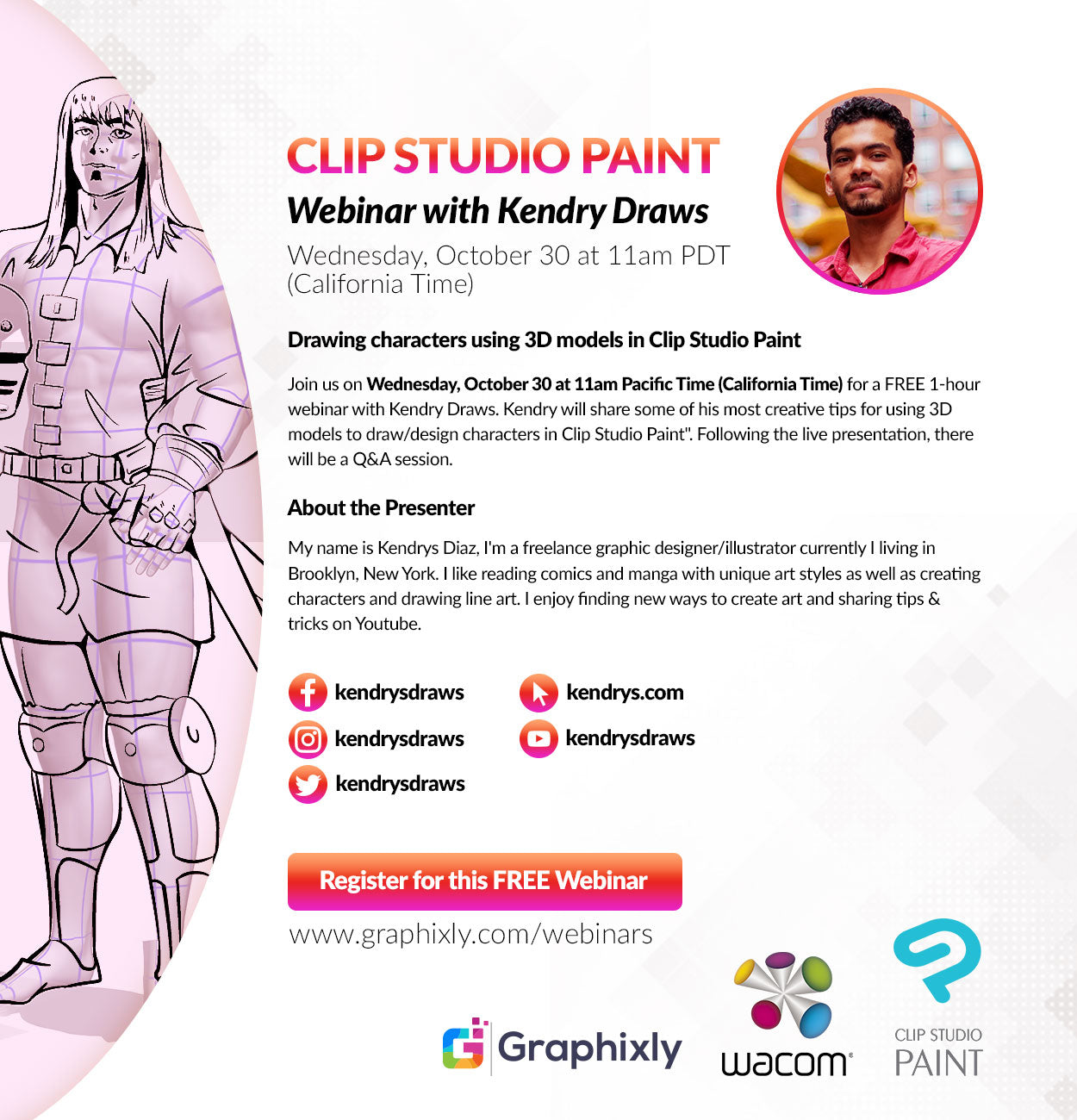 Webinar - Drawing characters using 3D models in Clip Studio Paint