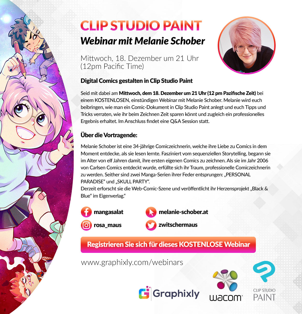 Webinar (Deutch) - Digital Comics gestalten in Clip Studio Paint