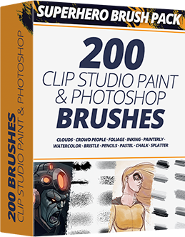 Superhero Brush Pack For CLIP STUDIO PAINT & PHOTOSHOP