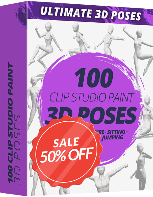 Ultimate 3D Poses Pack For CLIP STUDIO PAINT - Graphixly