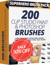 Superhero Brush Pack For CLIP STUDIO PAINT & PHOTOSHOP - Graphixly