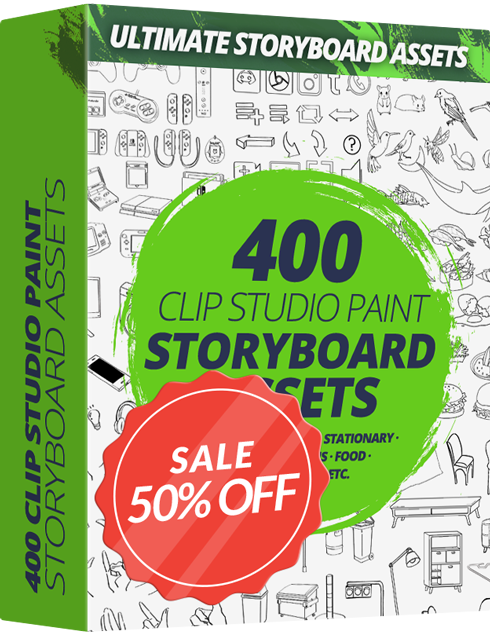 Ultimate Storyboard Assets Pack For CLIP STUDIO PAINT - Graphixly