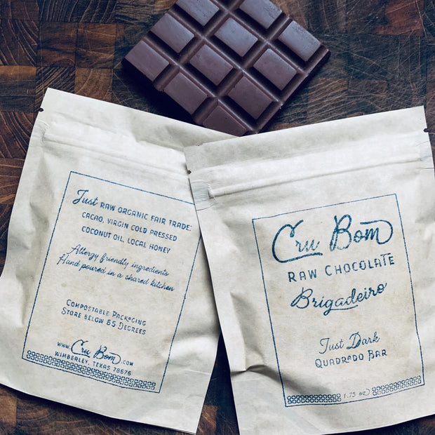 Hempseed Limited Edition Cru Bom Raw Chocolates - Quadrado {square} Bar