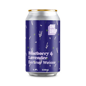 ONE DROP BREWING - BLUEBERRY & LAVENDER (Berliner Weisse)