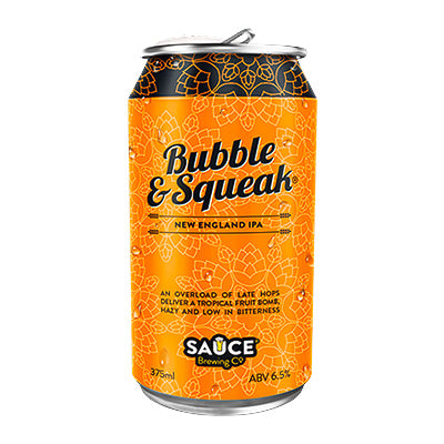 SAUCE BREWING CO -  BUBBLE & SQUEAK (NEIPA) 4-PACK